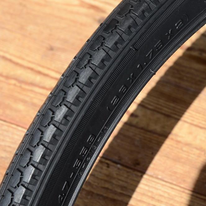 Fahrrad Reifen, 26 x 1,75 x 2 (47-559), Import, schwarz, klassische Ausführung