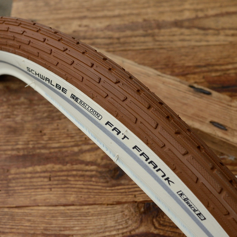 """Fahrrad Reifen, 28"""" x 2.0 (50-622), """"SCHWALBE FAT FRANK"""", Lauffläche braun, seitlich  Weisswand (cremefarben)"""