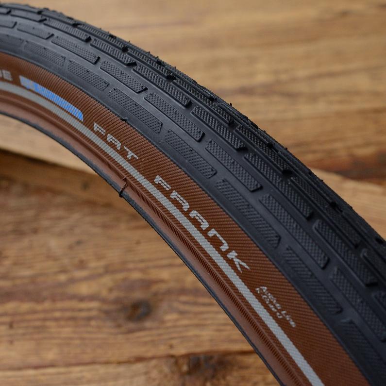 """Fahrrad Reifen, 28"""" x 2.0 (50-622), """"SCHWALBE FAT FRANK"""", schwarz , braune Flanke"""