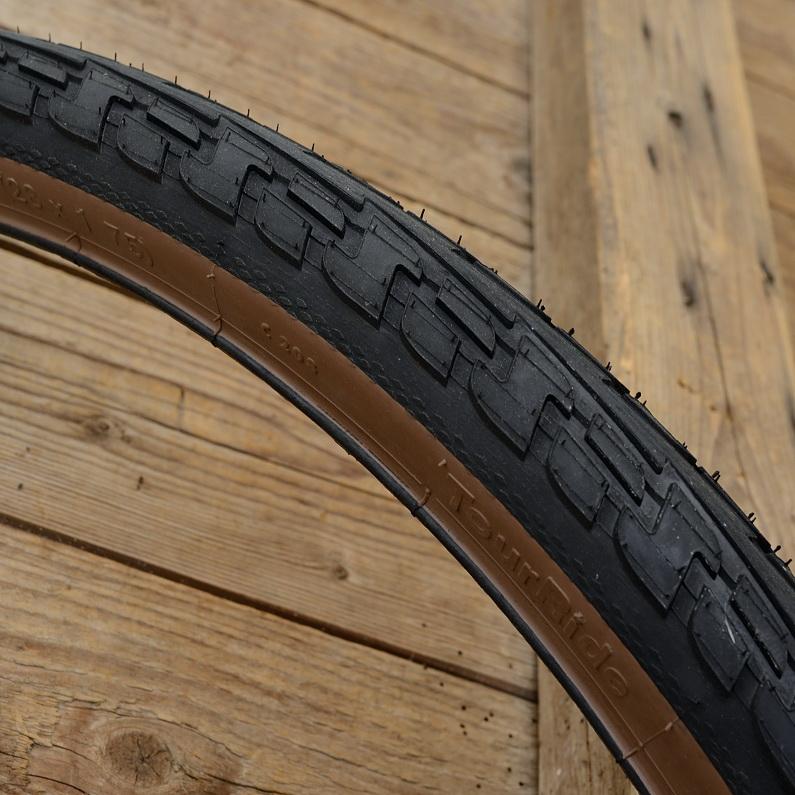 """Fahrrad Reifen """"CONTINENTAL"""", Ride Tour,  28"""" x 1,75, (47-622), schwarz / braunwand"""