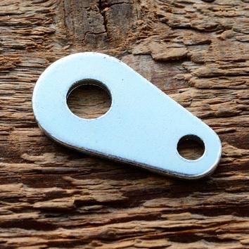 Adapter zur Schutzblechstreben Montage am Vorderrad , glanzverzinkt, L=38mm, D=8.5/5mm, 2mm dick
