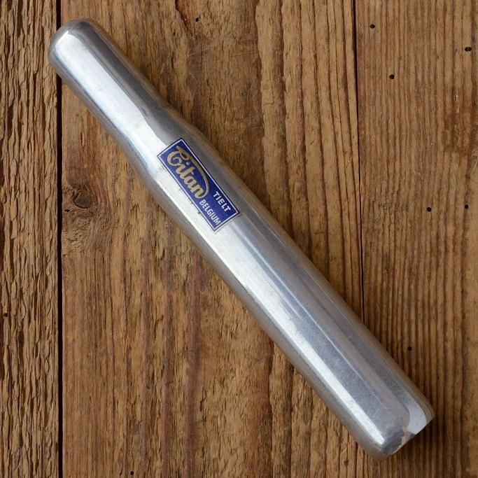 """Sattelstütze """"TITAN Belgium"""", Aluminium, D=26.8mm L=180mm, oben geschlossen, NOS"""