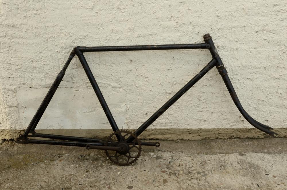 "Fahrradrahmen ""CITO"",  Herrenausf., 28 Zoll , RH=55cm, orig. 30er J., incl. Gabel,  incl. Tretlager"