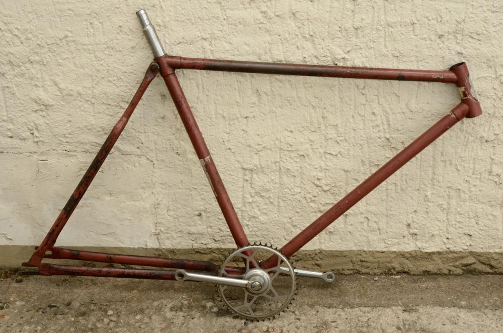 """Fahrradrahmen """"STANDARD"""",  Herrenausf., 28 Zoll , RH=55cm, orig. 50er J., ohne Gabel,  incl. Tretlager"""