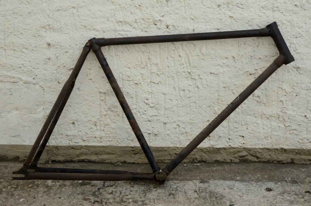 """Fahrradrahmen """"WANDERER"""",  Herrenausf., 26 Zoll Ballon, RH=55cm, orig. 30er J., ohne Gabel,  ohne. Tretlager"""
