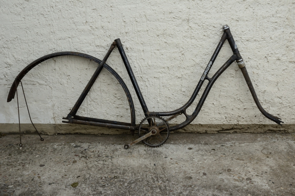 "Fahrradrahmen ""DÜRKOPP"",  Damenausf., 28 Zoll , RH=56cm, orig. 40er J., incl. Gabel,  incl. Tretlager"