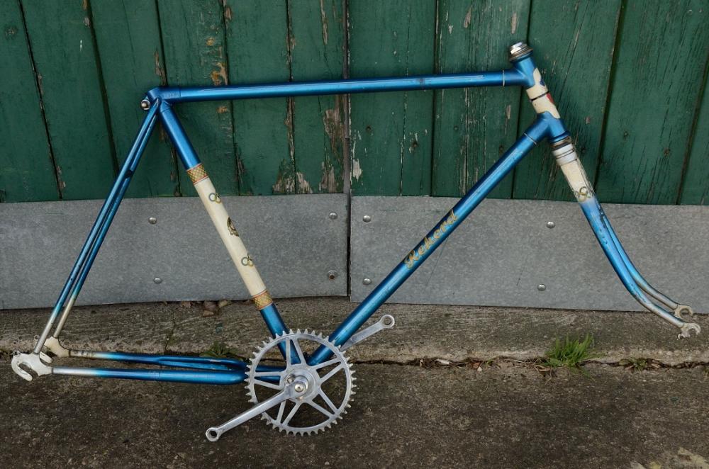 "Fahrradrahmen Sport ""REKORD gelabelt"",  Herrenausf., 26 Zoll,  RH=56cm, 50er J., incl. Tretlager u. Gabel"