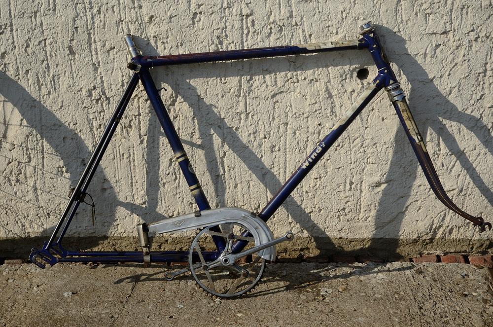 "Fahrradrahmen  ""WINDT"",  Herrenausf., Sport, balau , 28 Zoll,  RH=56cm, 50er J., incl. Gabel u. Tretlager"
