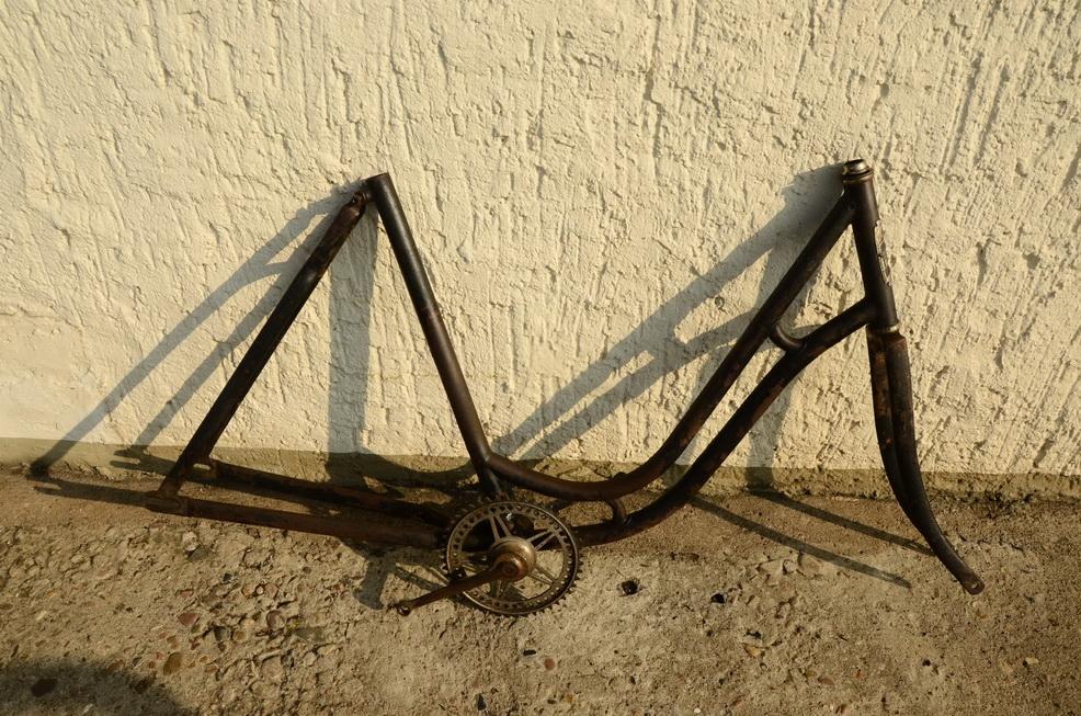 "Fahrradrahmen ""Presto"", ca. 1914, Originalzustand, Rahmennummer 274XXX"