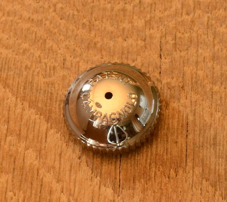 Pedalkappe, passend für Campagnolo Record Pedalen 70/80er J., Chromausf.