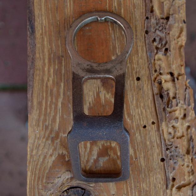 Carbidlaternenhalter, gebraucht mit Patina, s. Bilder,  orig. 10-30er Jahre, Montage am Steuersatz