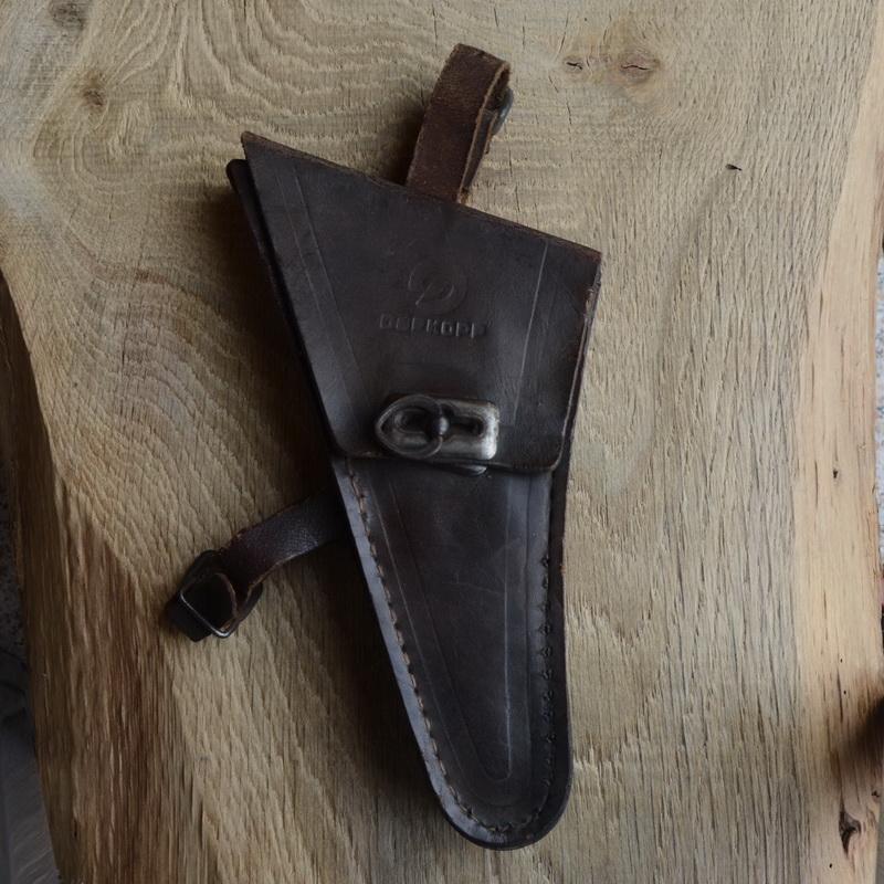 Werkzeugtasche DÜRKOPP,  Damenrad, Leder, braun, orig. 50er Jahre, altersbed.  Patina