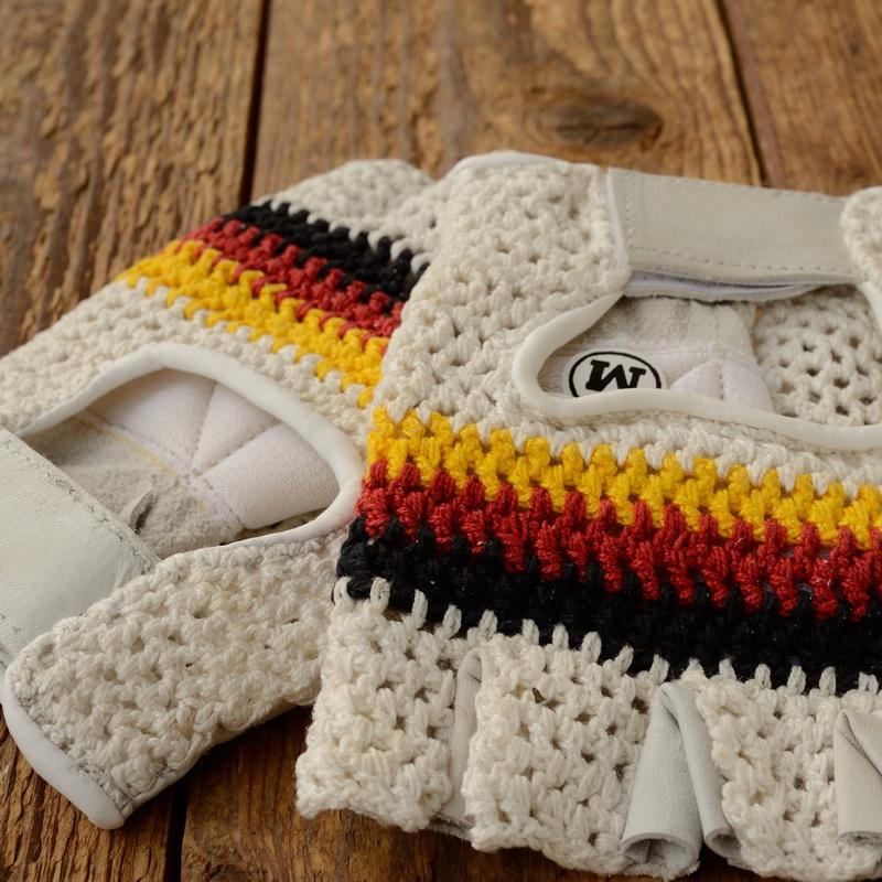 Handschuhe f. Radrennfahrer, orig. neu aus 70/80er Jahre Bestand, Size M, hochwertige Ausf.