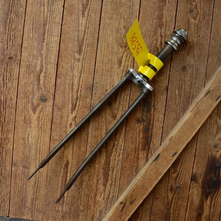 """Gabel 26""""orig. 50er J. unrestauriert, Schaftlänge 161 mm, Scheidenlänge 36 mm, Weite oben 55 mm, Zustand siehe Bilder"""