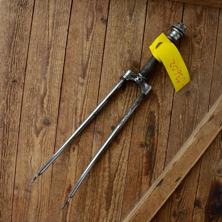 """Gabel 26""""orig. 60er J. unrestauriert, Schaftlänge 175 mm, Scheidenlänge 363 mm, Weite oben 56 mm, Zustand siehe Bilder"""