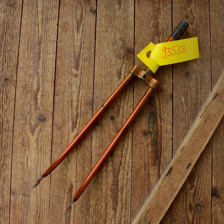 """Gabel 26""""orig. 60er J. unrestauriert, Schaftlänge 171 mm, Scheidenlänge 357 mm, Weite oben 55 mm, Zustand siehe Bilder"""