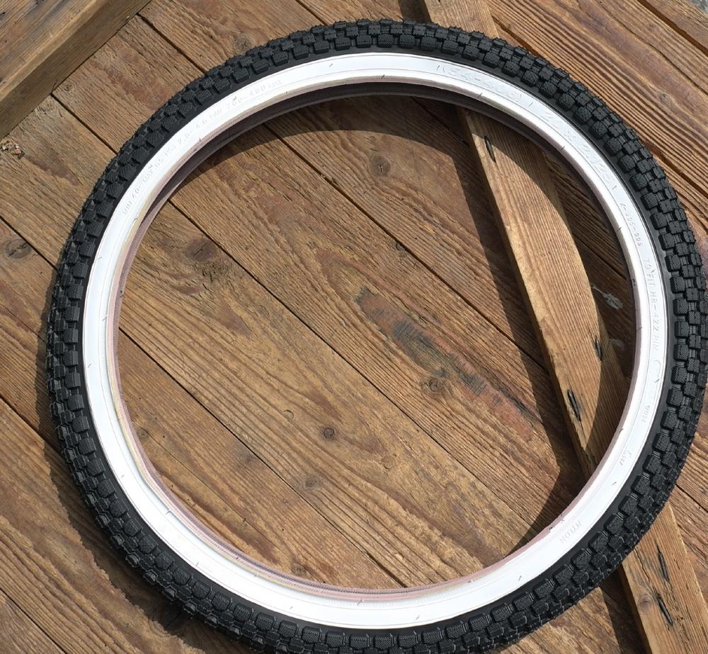"""Fahrrad Reifen, 20 x 2.125, Weisswand, """"KENDA"""", ideal f. Bonanzaräder etc."""