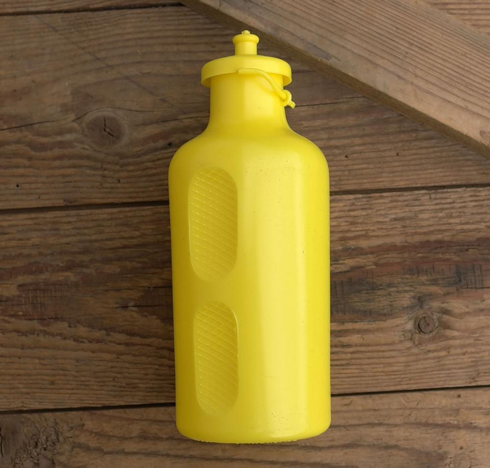 Trinkflasche, REG Atox, orig. 70/80er Jahre, gelb, ohne Aufdruck,  Kunststoff, orig. Altbestand, NOS