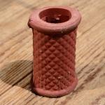 Rahmenschoner, rot, Gummi, mit Federblecheinlage, Nachfertigung
