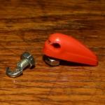 Strebenbefestigungsbolzen rot,aerodynamisch, Kunststoff, M5 x 7mm