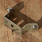 Kennzeichenhalter Fahrrad / Fahrradhilfsmotor / Moped, glanzverzinkt, incl. 2 Schrauben