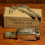 """Speichenschloss, """"HEBIE-FIX"""", (Hebie-Perfect) glanzverzinkt, für Anlötplatte , orig. 60/70er J."""