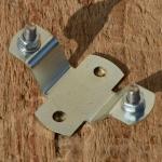 Kennzeichenhalter Fahrrad/Fahrradhilfsmotor/Moped, glanzverzinkt, incl. 2 Schrauben