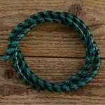 Zierspirale / Bowdenzugummantelung, grün/schwarz, 120cm lang, orig. Altbestand 60/70er J.