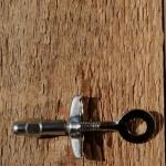 Kettenspanner, verchromt, D=10mm, Luxusausf., alte Neuware, leichte Patina