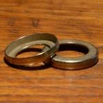 Staubdeckel / Staubkappe, vernickelt / verchromt, D=27.0mm aussen, innen ca. 16.5mm