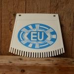 Schmutzfänger, weiß-blau, mit EU-Zeichen