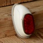 Mopedrücklicht SEKURA mit Blechgehäuse, orig 60er Jahre, Schutzblechmontage, orig. alte Neuware aus Lagerbestand