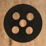 Hartgummi-Dichtung 21.5 x 3.0 mm, 5-loch