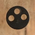 Hartgummi-Dichtung 13.5 x 2.2 mm, 3-loch