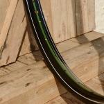"""Fahrradfelge 28"""" x 1,75 (ISO/ETRTO 622mm), schwarz, 36 Loch, Dek.12 grün weiss"""
