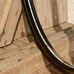 """Fahrradfelge 28"""" x 1,75 (ISO/ETRTO 622mm), Alu, schwarz, 36 Loch, Dek.15 weiss gold"""
