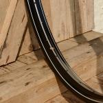 Fahrradfelge 28 x 1,75  (ISO/ETRTO 622mm), Alu, schwarz, 36 Loch, Dek.14 silber weiss