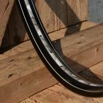 "Fahrradfelge 28"" x 1,75 (ISO/ETRTO 622mm), schwarz, 36 Loch, Dek.23 blau gefl weiss"