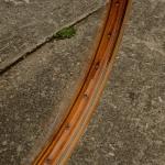"Fahrradfelge 28"" x 1,75 (ISO/ETRTO 622mm), Holzdekor (RT), 36 Loch, 38mm breit"