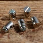 Schraubnippel, D=8.0/2.6mm, L=9mm, Messing vernickelt, FIX Bez. 24