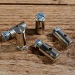Schraubnippel, D=8.0/2.3mm, L=15mm, Messing vernickelt, FIX Bez. 27