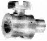Löt-/Schraubnippel, abgesetzt, D=6.5/4mm, L=9mm, Bohrung 2.3mm, Abb. ähnlich