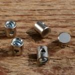 Schraubnippel, D=5.5/2.0mm, L=6.0mm, Messing vernickelt, FIX Bez. 27C