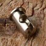 Nippel Aufnahme f. Brems/Kupplungshebel, D=10/8/6/4mm, L=15mm, Messing vernickelt, Fix-Bez. 33