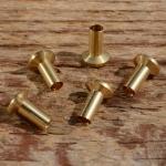Lötnippel, D=6.0/3.0/2.6mm, L=8.0mm, Messing, FIX Bez. 33A
