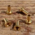 Lötnippel, D=6.0/3.5/2.6mm, L=8.0mm, Messing, FIX Bez. 20