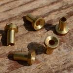 Lötnippel, D=6.0/3.5/2.6mm, L=8.0mm, Messing