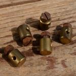 Schraubnippel, D=8.0/2.6mm, L=9.5mm, Messing , Schraube rostig