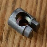Nippel Aufnahme, abgesetzt, D=9.0/8.0mm, D_innen=6.2/3.8mm, L=11mm, geschlitzt