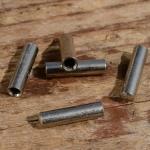 Abschlußhülse, D=3.0/2.0mm L=12mm, Messing vernickelt